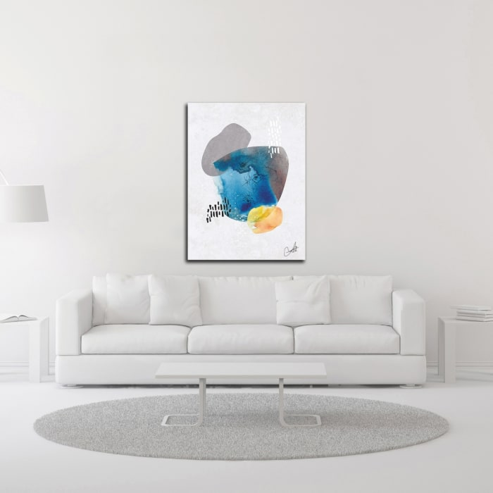 Indigo Blossom No. 1 by Louis Duncan-He Wrapped Canvas Wall Art