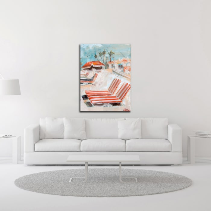 The Lounge by Kym De Los Reyes Wrapped Canvas Wall Art