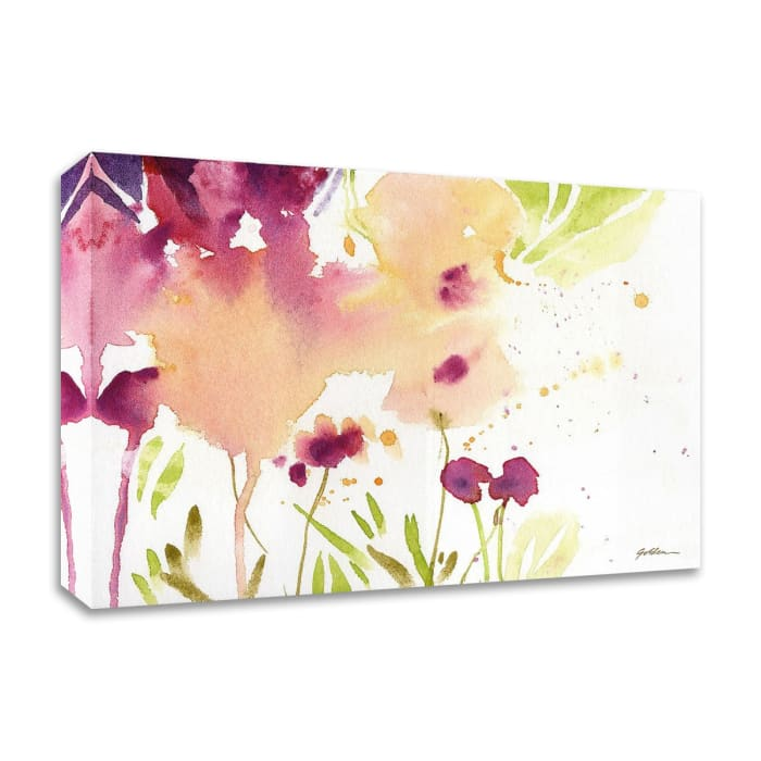 Maroon by Sheila Golden Wrapped Canvas Wall Art
