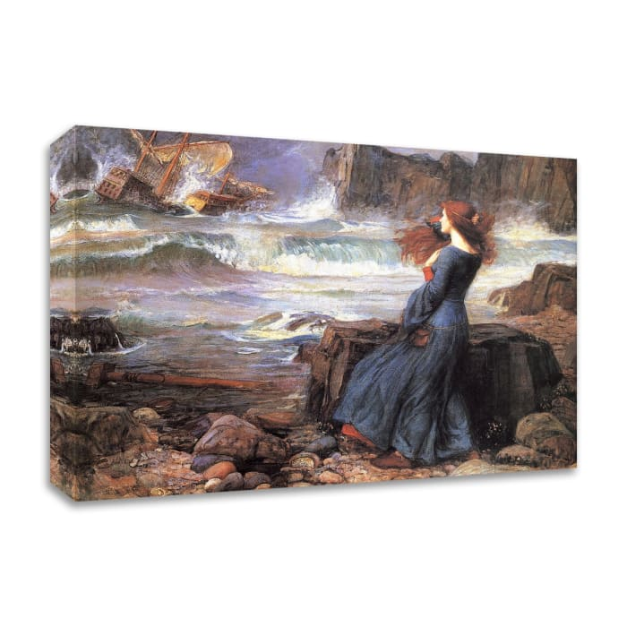 Miranda the Tempest by John William Waterhouse Wrapped Canvas Wall Art