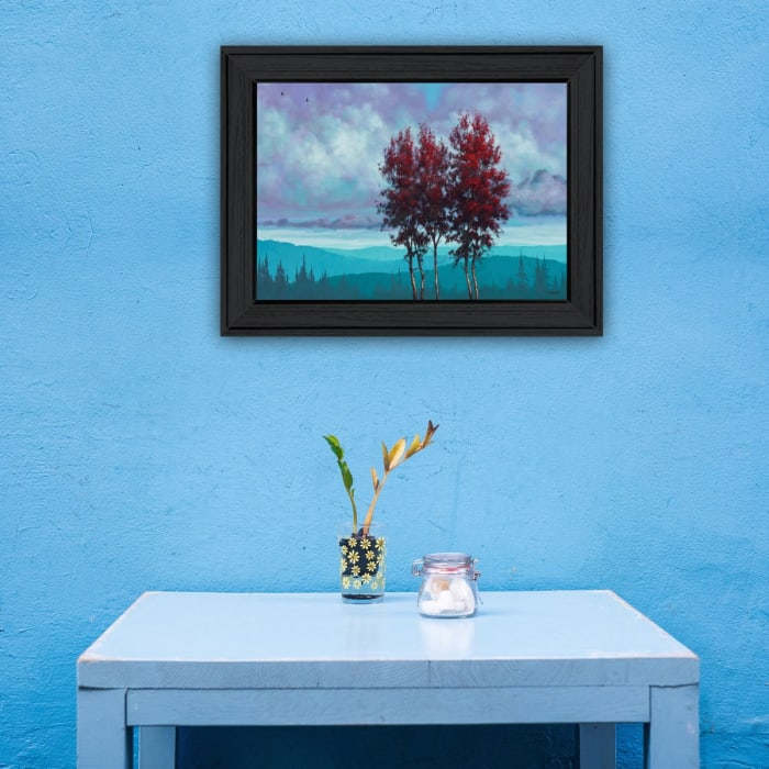 Two Red Trees by Tim Gagnon Framed Wall Art