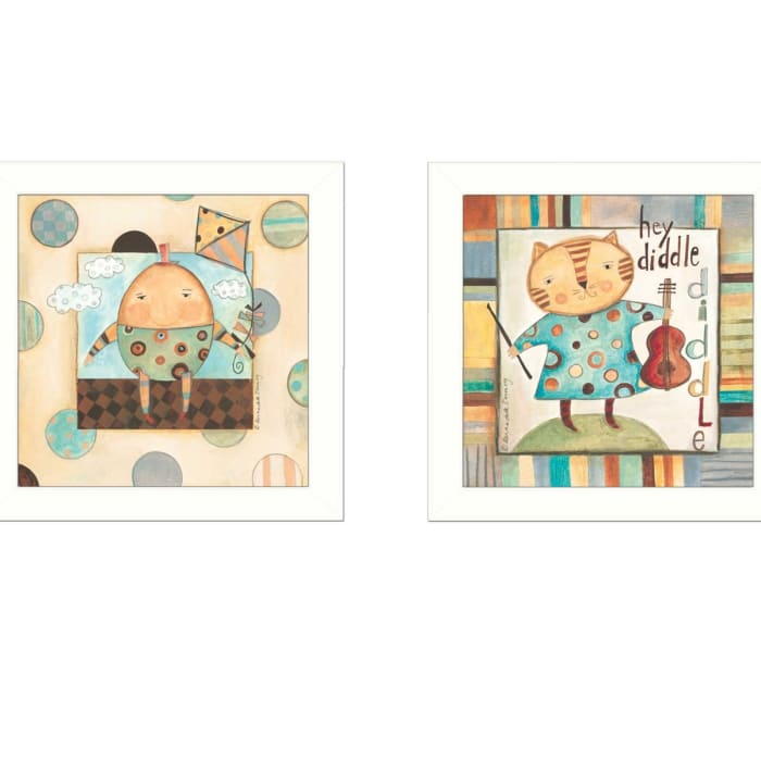 Nursery Pictures Collection By Bernadette Deming Framed Wall Art