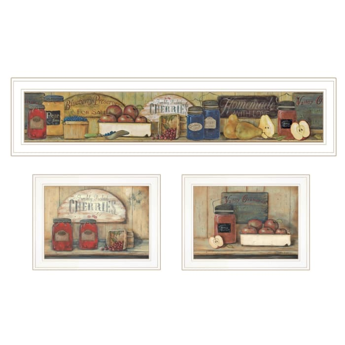 Country Kitchen 3-Piece Vignette By Pam Britton Framed Wall Art