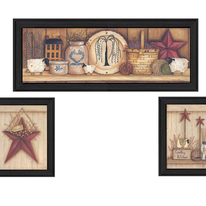 Stars Collection By Mary June Framed Wall Art