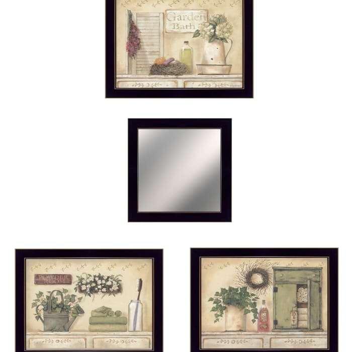 Garden Bath Collection By Pam Britton Framed Wall Art