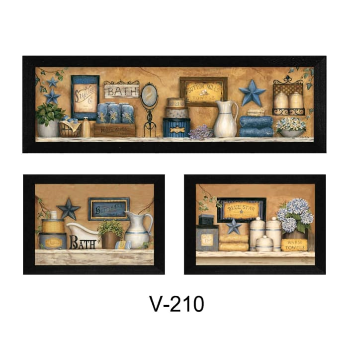 Bathroom Collection III Collection By Carrie Knoff Framed Wall Art