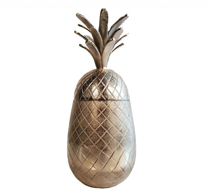 Pineapple Storage Aluminium Decor