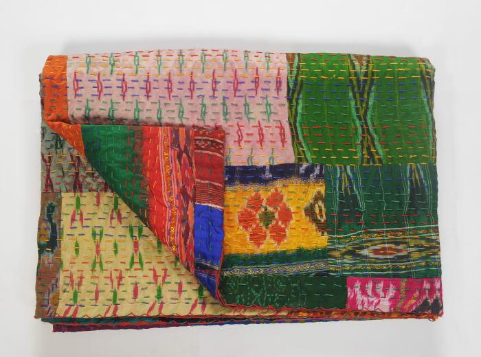Bohemian Patola Kantha Multicolored 50