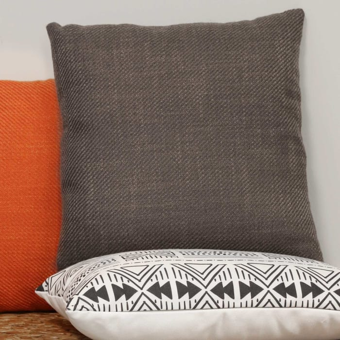 Mocha Tweed Square Pillow