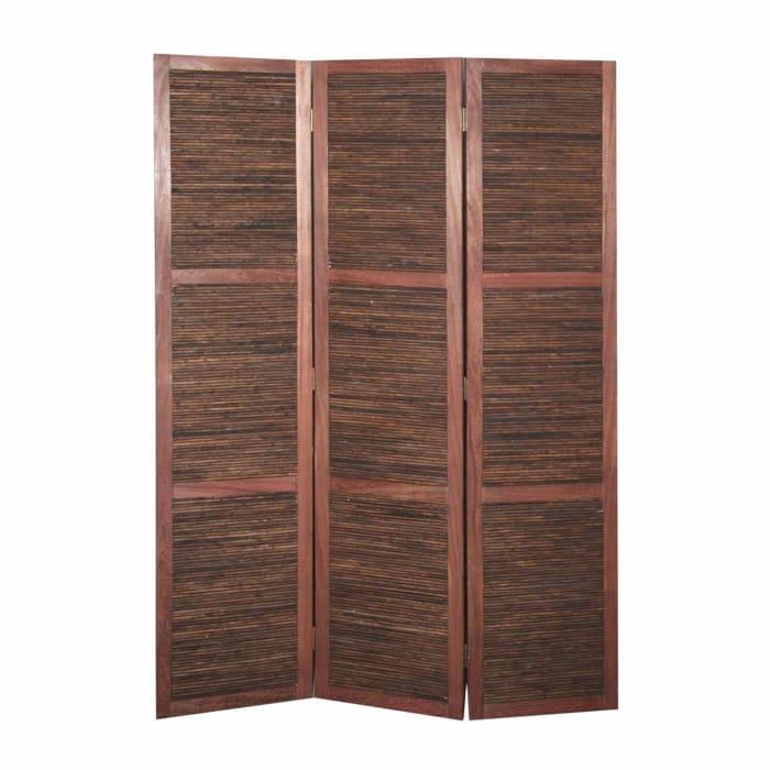 Warm Brown 3 Panel Room Divider