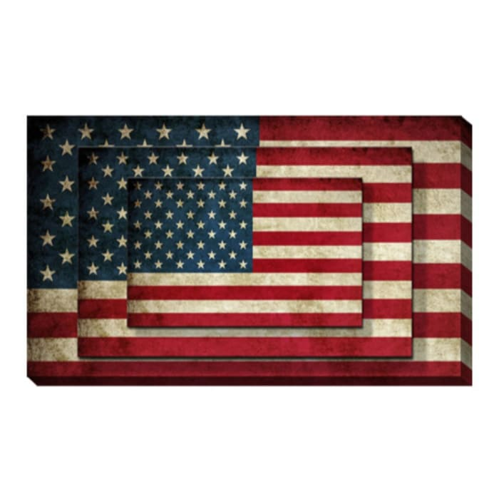 USA Flag Canvas 2 Piece Set Wall Art