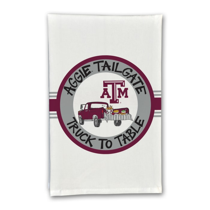 Texas A & M Tailgate Truck Set of 2 Hand Towels