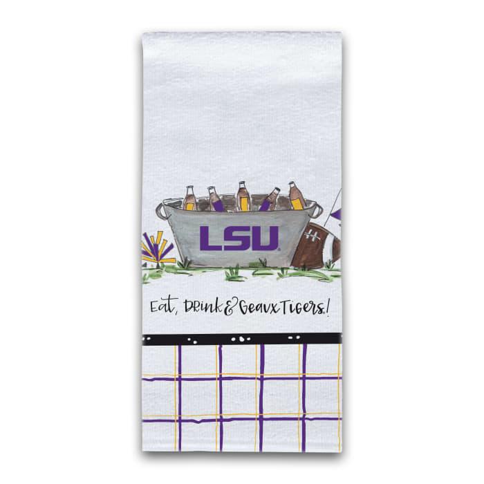 LSU Football Set of 2 Hand Towels