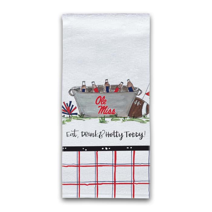 Ole Miss Football Set of 2 Hand Towels