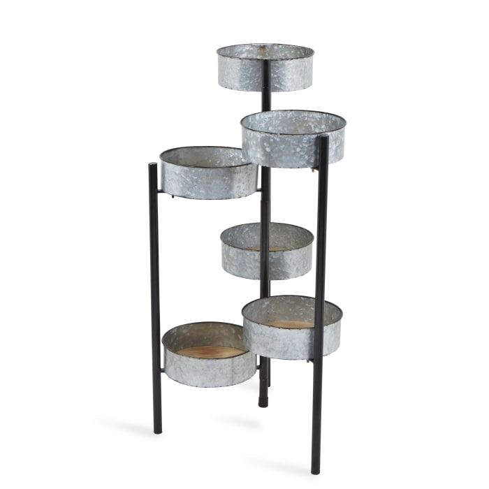Modern Farmhouse 6 Tier Galvanized Metal Plant Stand