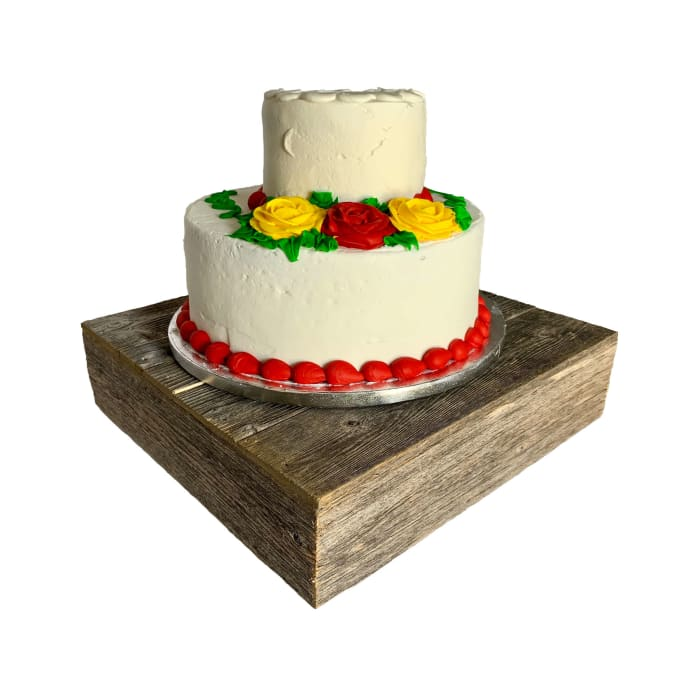 Natural Weathered Gray Cake Stand