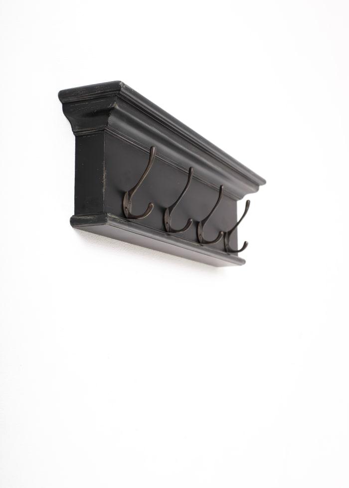 4-Hook Wall Mounted Coat Rack