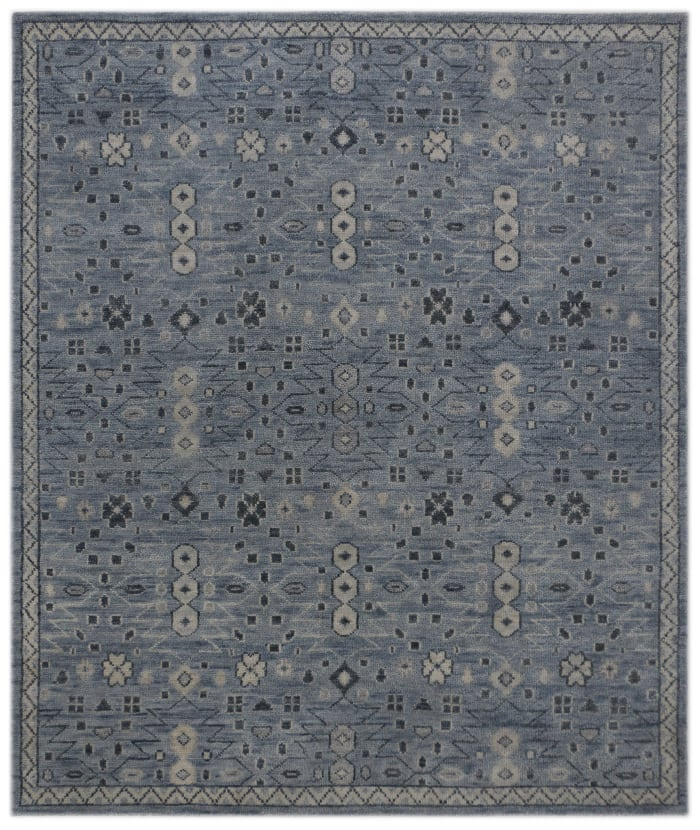Blue Hand Knotted Kai 8' x 10' Area Rug