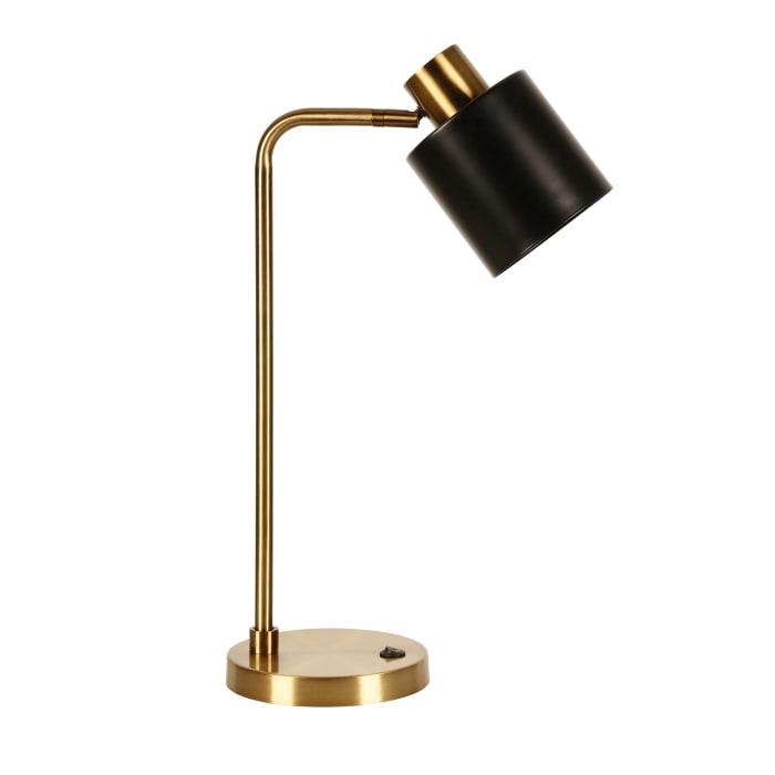 Two Tone Metallic Table Lamp