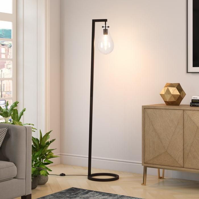 Blackened Bronze Floor Lamp