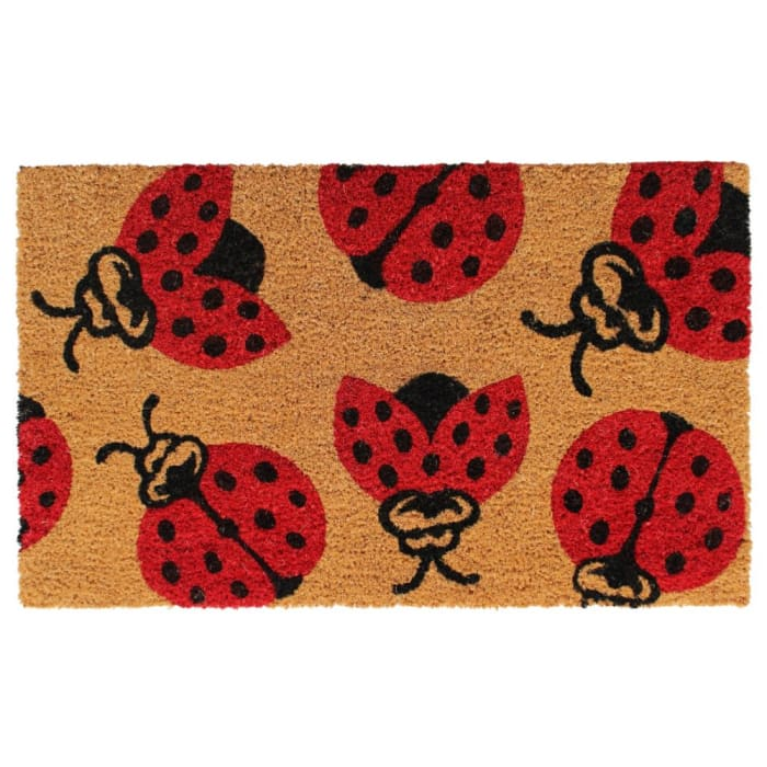 Natural Machine Tufted Lady Bug, 1'5'' x 2'5''