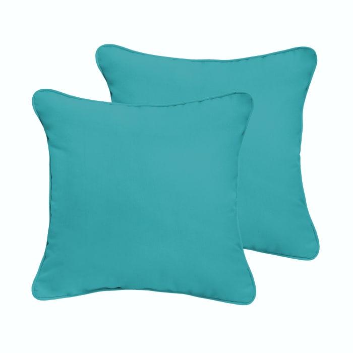 Aqua Blue Set of 2 Outdoor Pillows