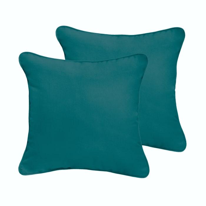 Teal Set of 2 Outdoor Pillows