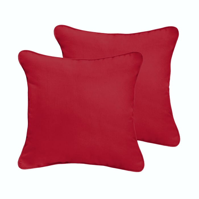 Crimson Red  Set of 2 Outdoor Pillows