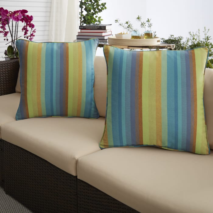 Sunbrella Astoria Lagoon Set of 2 Outdoor Pillows