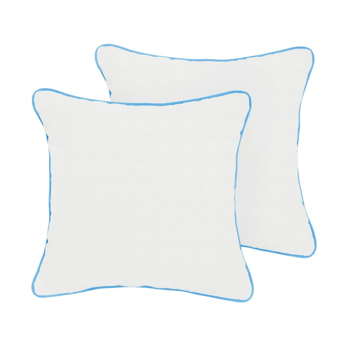 Sunbrella Natural/Canvas Capri Set of 2 Outdoor Pillows