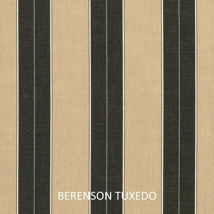 Sunbrella Corded Berenson Tuxedo/Canvas Black Set of 2 Outdoor Lumbar Pillows