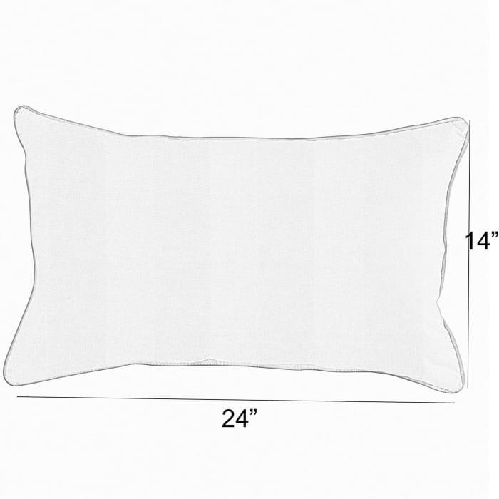 Sunbrella Canvas Bay Brown Set of 2 Outdoor Lumbar Pillows