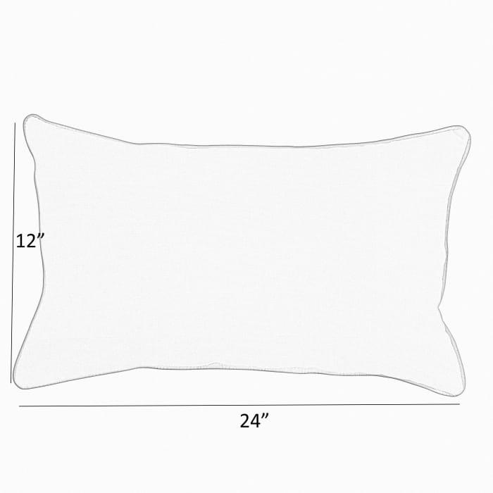 Sunbrella Canvas Natural Set of 2 Outdoor Lumbar Pillows