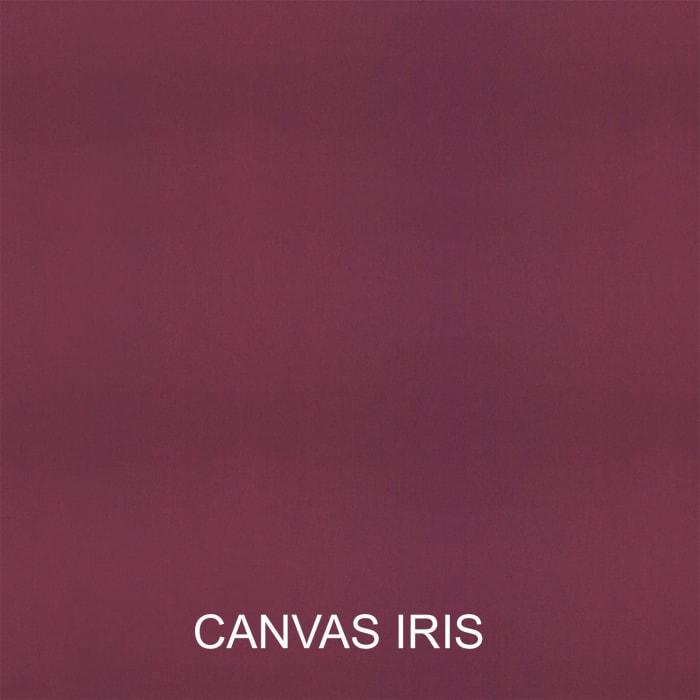 Sunbrella Canvas Natural/Canvas Iris Set of 2 Outdoor Lumbar Pillows