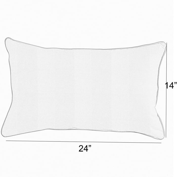 Sunbrella Berenson Tuxedo Lumbar Set of 2 Outdoor Lumbar Pillows