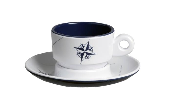 Northwind Espresso Service of 6 Melamine Cup & Saucer