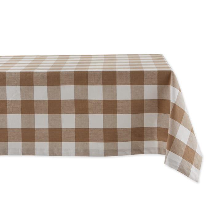 Stone Buffalo Check Tablecloth