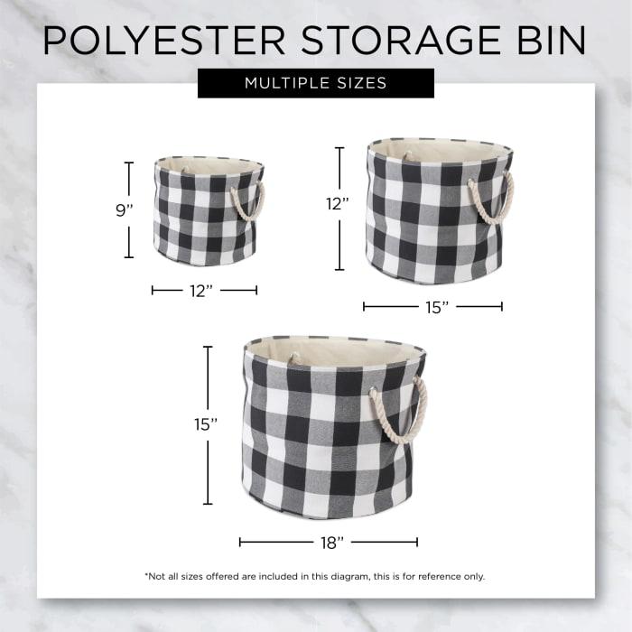 Gray Lattice Paw Polyester Round Medium Pet Bin