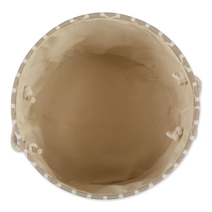 Stone Lattice Paw Polyester Round Large Pet Bin