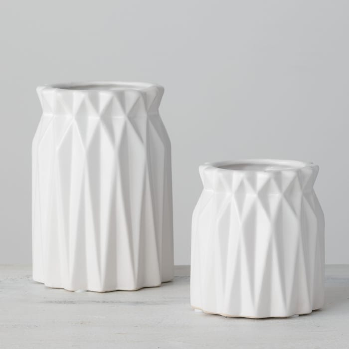 Origami Set of 2 Vases