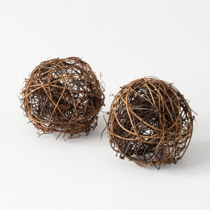 Set of 2 Vine Spheres