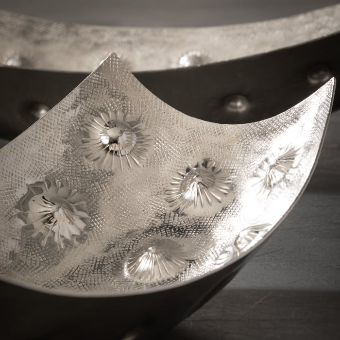 Nickel Plated Set of 2 Bowls