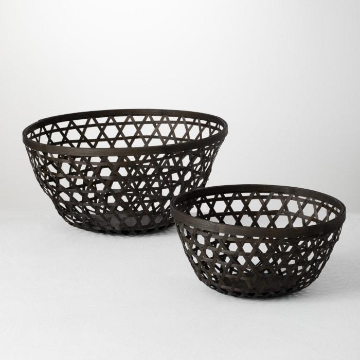 Wicker Set of 2 Bowls