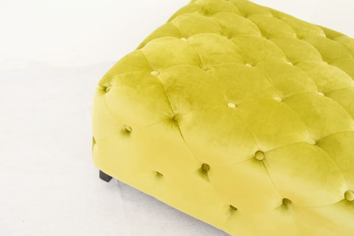 Tufted Green Bench