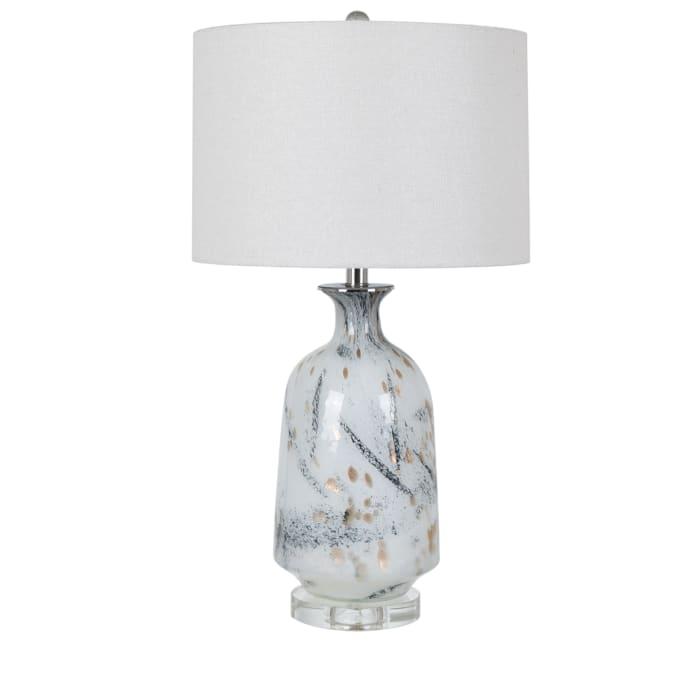 Skye Crystal Glass White Table Lamp