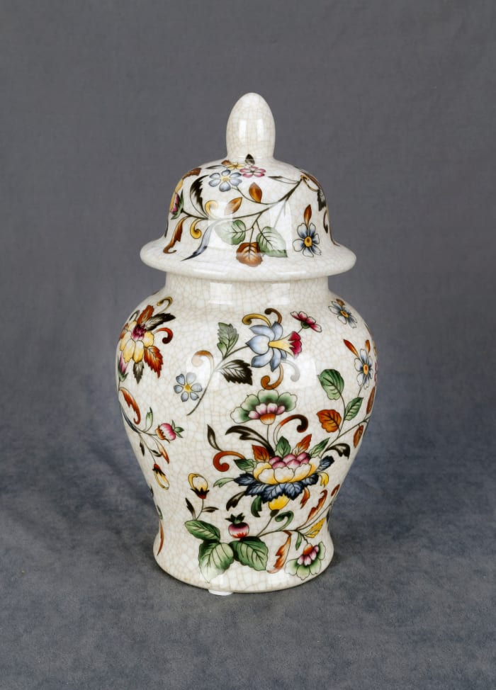 Flowers and Vines Ginger Jar