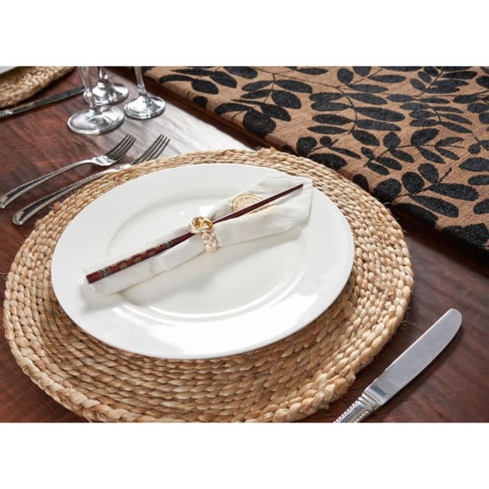 Solid Braided Jute Set of 2 Placemats