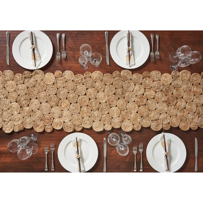 Concentric Circle Jute Table Runner