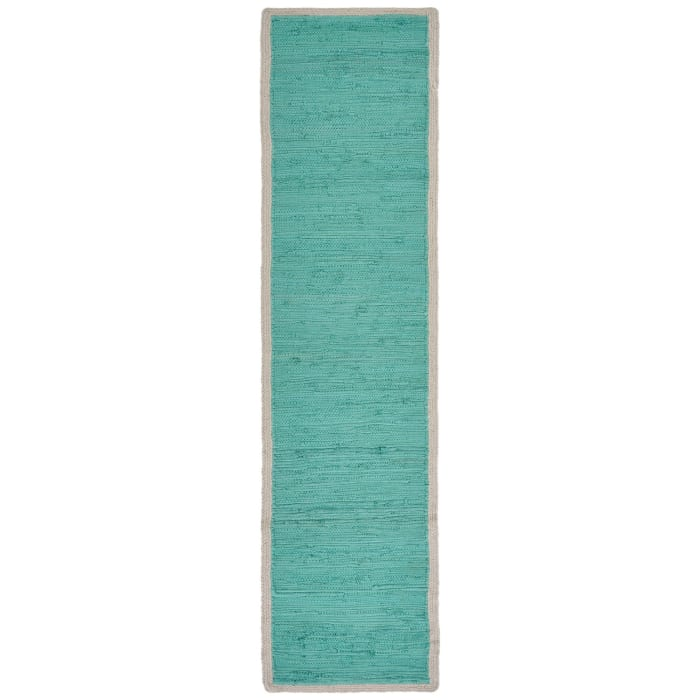 Bordered Turquoise Table Runner