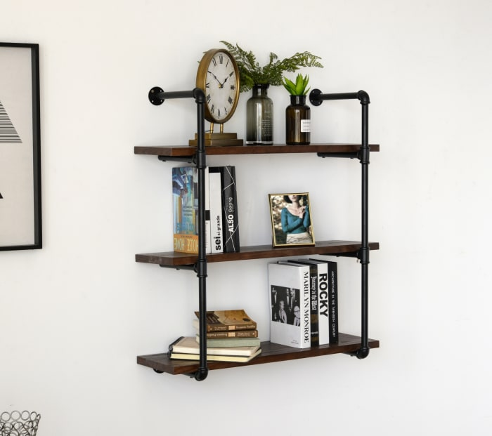 Ratcliffe 3-Tier Piped Floating Wall Shelf